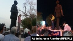 صورة مركبة لإنطلاق قافلة لا للعنف الشعرية في البصرة