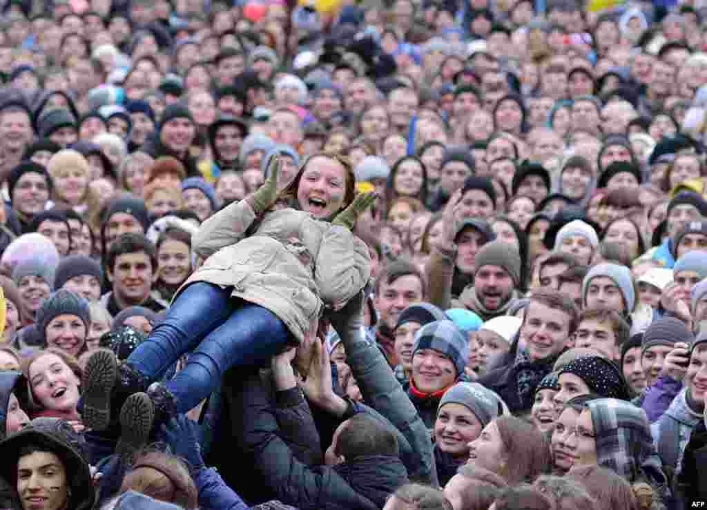 28 листопада. Студенти під час Євромайдану у Львові