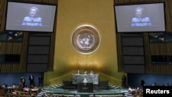 A UN General Assembly session in New York, 19Aug2010