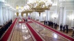 Putin Welcomes Uzbek Leader To Kremlin