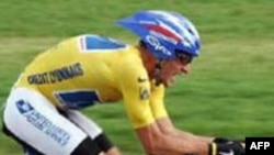 Armstrong during the 2004 Tour de France