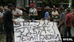 Protest poljoprivrednika u Zagrebu, lipanj 2010. godine