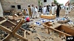 A home in Bar Qambarkhel said to have belonged to Haji Namdar, the head of a hard-line group seeking Taliban-style rule, on June 30