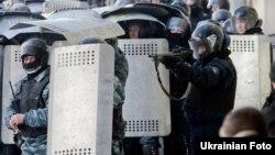 Зіткнення протестувальників в урядовому кварталі в Києві, 18 лютого 2014 року