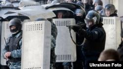 Під час сутичок міліції і протестувальників у Києві, 18 лютого 2014 року