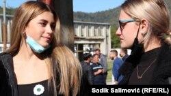 Maša Elezović i Nejra Bešo nakon projekcije