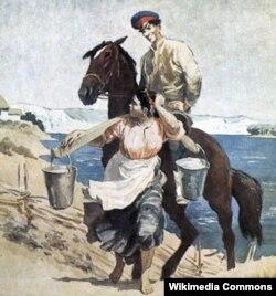 Ілюстрацыя да «Ціхага Дону», адзначанага Сталінскай прэміяй у 1941 годзе.