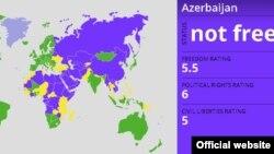 """Карта """"Свобода в мире"""" от Freedom House"""