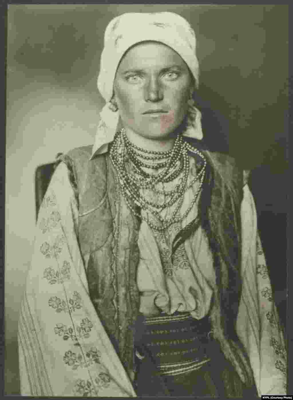 A Ruthenian woman (circa 1906). The term Ruthenian is applied to some inhabitants of a cross-border region around the northern Carpathian Mountains, including western Ukraine, eastern Slovakia, and southern Poland.