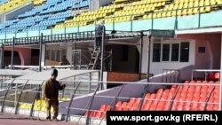 Единственный в Бишкеке стадион имени Долона Омурзакова.