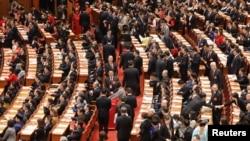 Қытай парламентіндегі дауыс беру. Пекин. 11 наурыз, 2018 жыл.