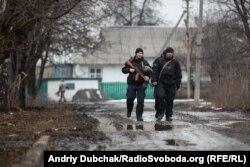 Поліцейський патруль роти «Святослав» на вулиці Золотого-4