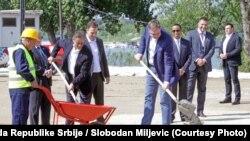 Mohamed Alabbar (kompanija Eagle Hills) i Aleksandar Vučić predsednik Srbije