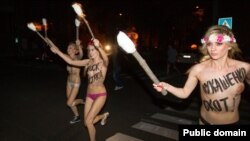 «Начная атака на Лукашэнку» FEMEN