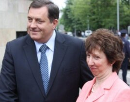 Milorad Dodik i Ketrin Ešton u Banjaluci, maj 2011. foto: Erduan Katana