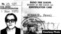 The RFE/RL ID card of former Czechoslovak intelligence agent Pavel Minarik
