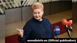 Președinta Lituaniei DaliaGrybauskaitė.