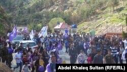 مسيرة إحتفال آشورية بعيد أكيتو في دهوك