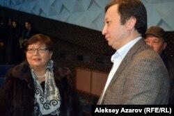 Фильмнің демеушісі Шыңғыс Құлжанов (оң жақта). Алматы, 17 қараша 2016 жыл.