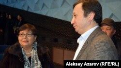 Спонсор фильма «Завтра море» бизнесмен Шынгыс Кульжанов (справа). Алматы, 17 ноября 2016 года.