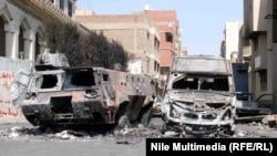 اثار المواجهات في بلدة كرداسة