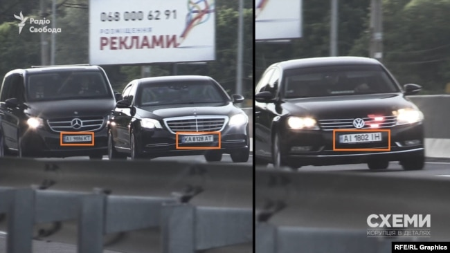 Автівки президентського кортежу мають номерні знаки прикриття – тобто їх немає в базі МВС