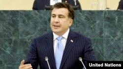 Выступление президента Грузии Михеила Саакашвили в ООН. 25 сентября 2013