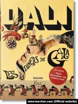 """Salvador Dalinin """"Dalí: Les Diners de Gala"""" kitabının üz qabığı."""