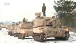 ABŞ tankları Rusiyanın beş addımlığında