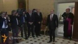 Путин Рим папаси билан учрашувга бир соат кечикиб келди