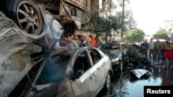 После взрывов в городе Хомс