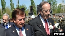 The bill was sponsored by Republican Ed Royce (left) and Democrat Eliot Engel (right, file photo).