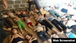 Сирияда 21 тамызда жасалған газ шабуылынан қаза тапқан балалар.