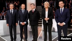 Fransa prezidentliyinə namizədlər: Emmanuel Macron,Marine Le Pen, Francois Fillon və Jean-Luc Melenchon