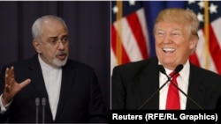 Eýranyň daşary işler ministri Mohammad Jawad Zarif we ABŞ-nyň saýlanan prezidenti Donald Tramp