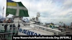 Прикордонні катери та судна в акваторії Одеського порту, 24 вересня 2018 року