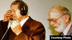 La Radio Europa Liberă, la München, cu ocazia vizitei regelui Mihai