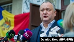 Moldovan President Igor Dodon is frequently at odds with Filip and his government, which favors closer ties with the EU and the United States.
