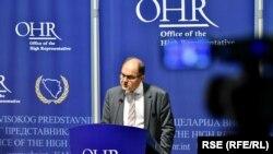 Nakon neusvajanja budžeta i moguće blokade državnih institucija u BiH ostaje pitanje da li će visoki predstavnik OHR-a Christian Schmidt (na fotografiji) iskoristiti svoje ovlasti, Sarajevo, 4. avgust 2021.
