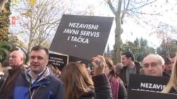 Protest: Nezavisni javni servis i tačka