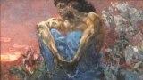 """Картина Михаила Врубеля """"Демон сидящий"""". 1890"""
