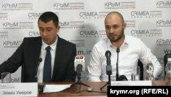 Эйваз Умеров и Абдурахман Салиев на пресс-конференции в Симферополе