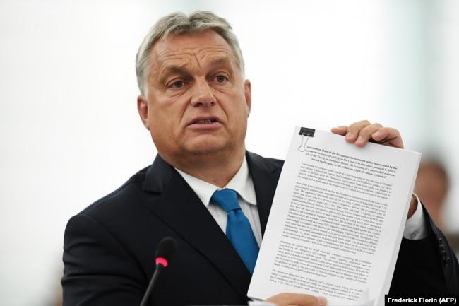 """Премьер-министр Венгрии Виктор Орбан известен пропагандой идеи """"нелиберальной демократии"""""""