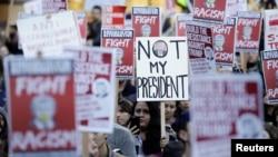 Акция противников Дональда Трампа. Сиэтл, 9 ноября 2016 года