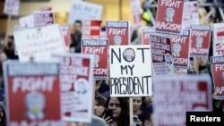 Протест в Сиэтле 9 ноября 2016