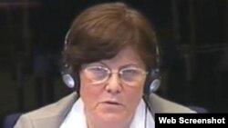 Svjedokinja Ewa Tabeau na suđenju Radovanu Karadžiću, 1. svibanj 2012.