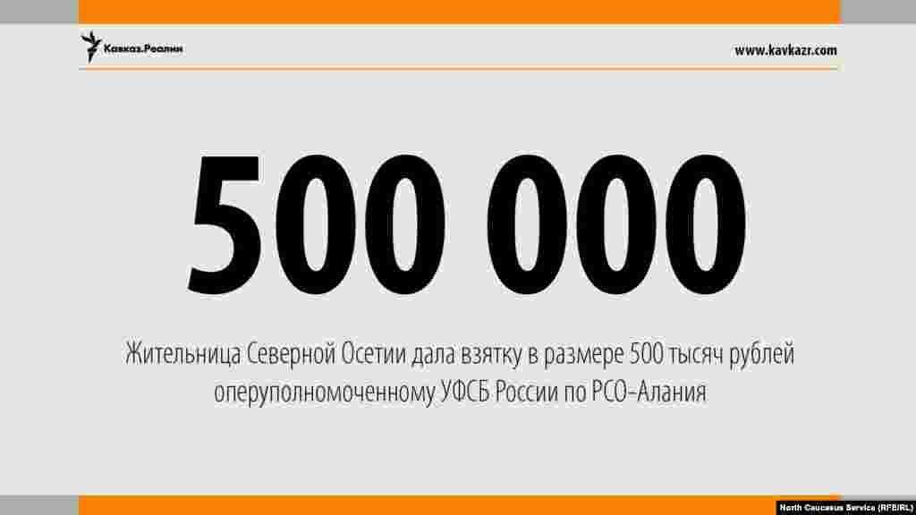 20.06.2017 //Жительница Северной Осетии пыталась подкупить сотрудника ФСБ.