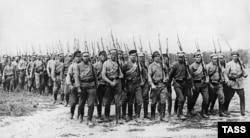 18. წითელი არმიის ჯარისკაცები 1919 წელს. რუსეთი ამ დროს სამოქალაქო ომშია ჩაფლული.