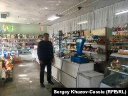 Андрей Брылин в своем магазине