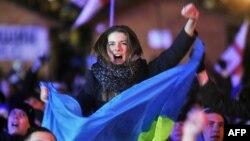 Шеруге шыққан адамдардың бірі. Киев, 2 желтоқсан 2013 жыл.
